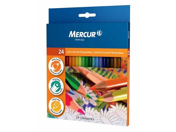 Lápis de Cor Mercur 24 cores