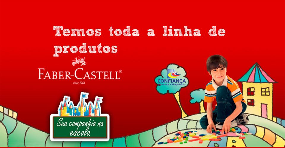 Temos toda a linha de produtos Faber-Castell
